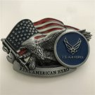 Eagle Real American Hero US Air Force Western Cowboy Men Belt Buckles Fit 4cm Wide Belt