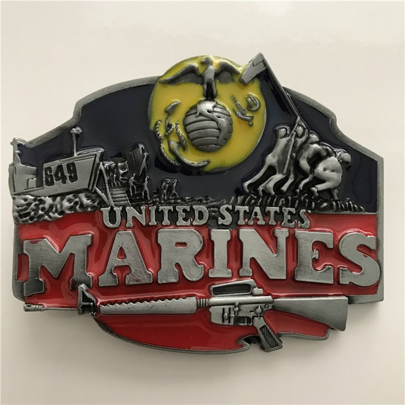 United States Marines Western Cowboy Men Belt Buckles Fit 4cm Wide Belt