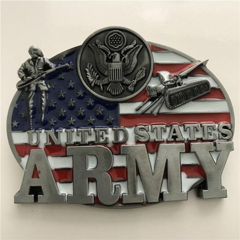 United States Army Flag Western Cowboy Men Belt Buckles Fit 4cm Wide Belt