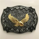 Gold Eagle Western Cowboy Men Belt Buckles Fit 4cm Wide Belt