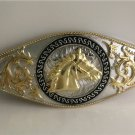 Gold Horse Head Western Cowboy Men Belt Buckles Fit 4cm Wide Belt