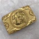 3D Gold Pig Solid Brass Western Cowboy Men Belt Buckles Fit 4cm Wide Belt