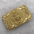 Dragon Solid Brass Western Cowboy Men Belt Buckles Fit 4cm Wide Belt