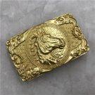 Golden Horse Solid Brass Western Cowboy Men Belt Buckles Fit 4cm Wide Belt