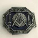 Mason Metal Western Cowboy Men Belt Buckles Fit 4cm Wide Belt