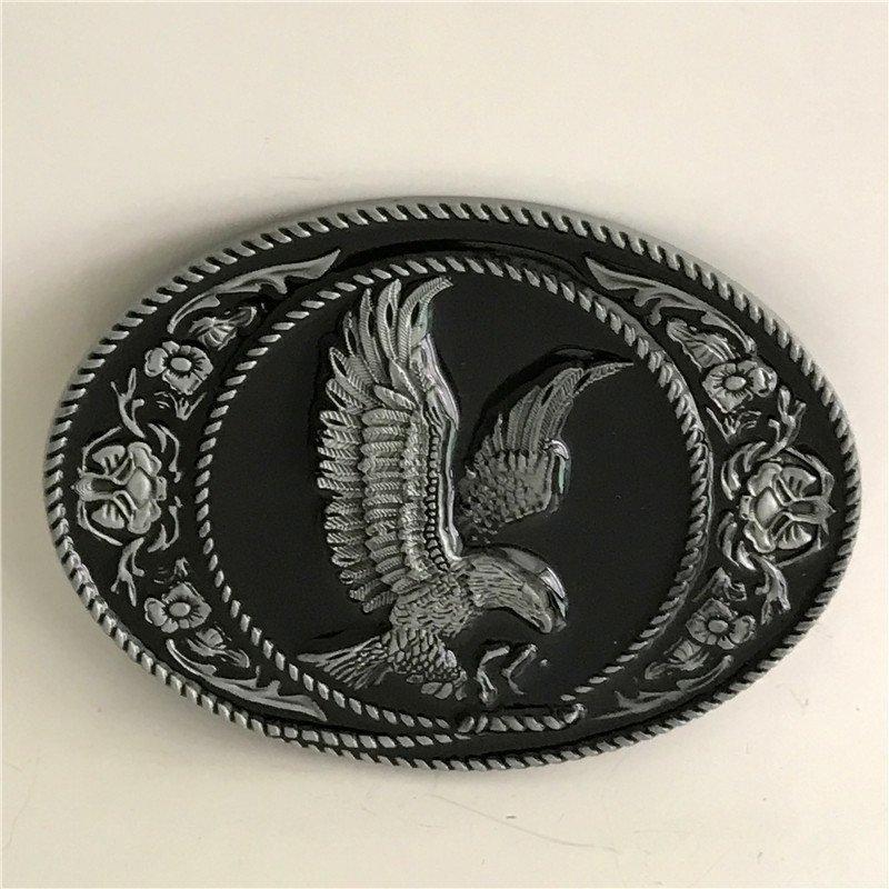Silver Pattern Eagle Western Cowboy Men Belt Buckles Fit 4cm Wide Belt