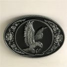 Silver Pattern Eagle Western Cowboy Men Belt Buckles Fit 4cm Wide Belt