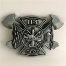 Fire Dept Western Cowboy Men Belt Buckles Fit 4cm Wide Belt