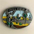 Hard Work Of The Welder Western Cowboy Men Belt Buckles Fit 4cm Wide Belt