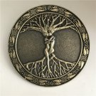 Round Bronze Lover Tree Western Cowboy Men's Belt Buckles Fit 4cm Wide Belt