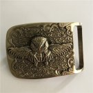 3D Owl Solid Brass Western Cowboy Men's Belt Buckles Fit 4cm Wide Belt