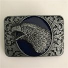 Rectangle Silver Pattern Eagle Head Western Cowboy Men's Belt Buckles Fit 4cm Wide Belt