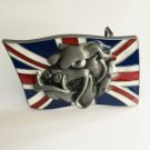 UK Flag Bulldog Head Western Cowboy Men's Belt Buckles Fit 4cm Wide Belt
