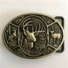 Bronze Deer Western Men's Cowboy Belt Buckles Fit 4cm Wide Jeans Belt