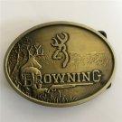 Bronze Hunting Deer Western Men's Cowboy Belt Buckles Fit 4cm Wide Jeans Belt
