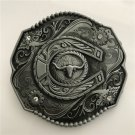 Texas Bull Head Western Men's Cowboy Belt Buckles Fit 4cm Wide Jeans Belt