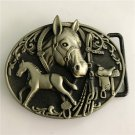 Bronze Horse Western Men's Cowboy Belt Buckles Fit 4cm Wide Jeans Belt