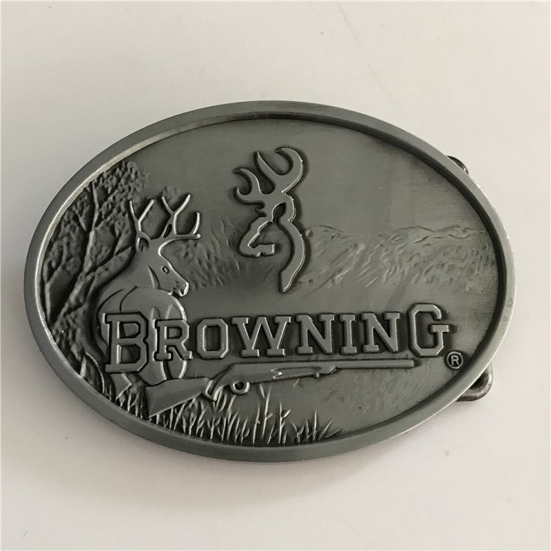 Brown Hunting Western Men's Cowboy Belt Buckles Fit 4cm Wide Jeans Belt