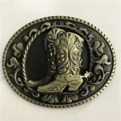 Bronze Boots Western Men's Cowboy Belt Buckles Fit 4cm Wide Jeans Belt