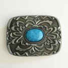 Rectangle Retro Design Western Men's Cowboy Belt Buckles Fit 4cm Wide Jeans Belt