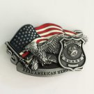 Real American Hero Security Guard Western Men's Cowboy Belt Buckles Fit 4cm Wide Jeans Belt