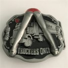 Truckers Only Western Men's Cowboy Belt Buckles Fit 4cm Wide Jeans Belt