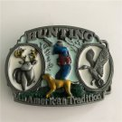 An American Tradition Hunting Western Men's Cowboy Belt Buckles Fit 4cm Wide Jeans Belt