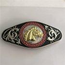 Gold Horse Head Western Men's Cowboy Belt Buckles Fit 4cm Wide Jeans Belt