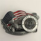 Real American Hero United State Army Western Men's Cowboy Belt Buckles Fit 4cm Wide Jeans Belt