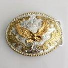 Lace Gold Eagle Western Men's Cowboy Belt Buckles Fit 4cm Wide Jeans Belt