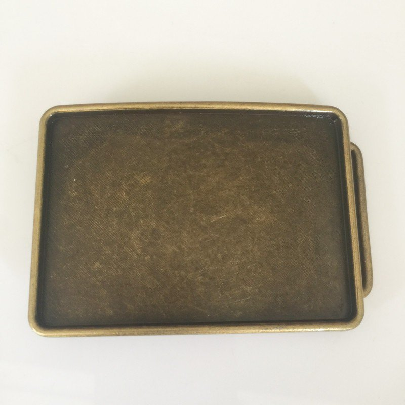 Rectangle Bronze Blank Western Men's Cowboy Belt Buckles Fit 4cm Wide Jeans Belt