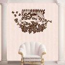 Creative Design Islamic Muslim Art Calligraphy Wall Sticker Butterfly Flower Decor Decals