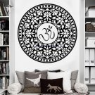 Retro Buddha Indian Round Mandala Wall Stickers Om Removable Vinyl Stickers Yoga Symbol