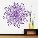 Removable Mandala Interior Wall Sticker Vinyl Art Mural Yoga Namaste Symbol Mehndi Art