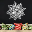 Mandala Yoga Vinyl Stickers Removable Waterproof DIY Art Wall Sticker Decor