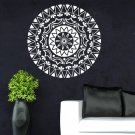 Indian Round Mandala Yoga Wall Stickers Home Decor Living Room Symbol Mehndi Mural