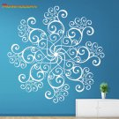 Yoga Indian Round Symbol Mehndi Wall Stickers Flowers Vinilo Pared Wallpaper