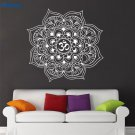Indian Yoga Oum Om Sign Decal Vinyl Bedroom Art Indian Wall Sticker Removable Decal Mandala