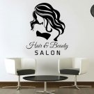 Hairdresser Beauty Salon Girls Wall Art Stickers Decals Vinyl Home Decor Removable Mural