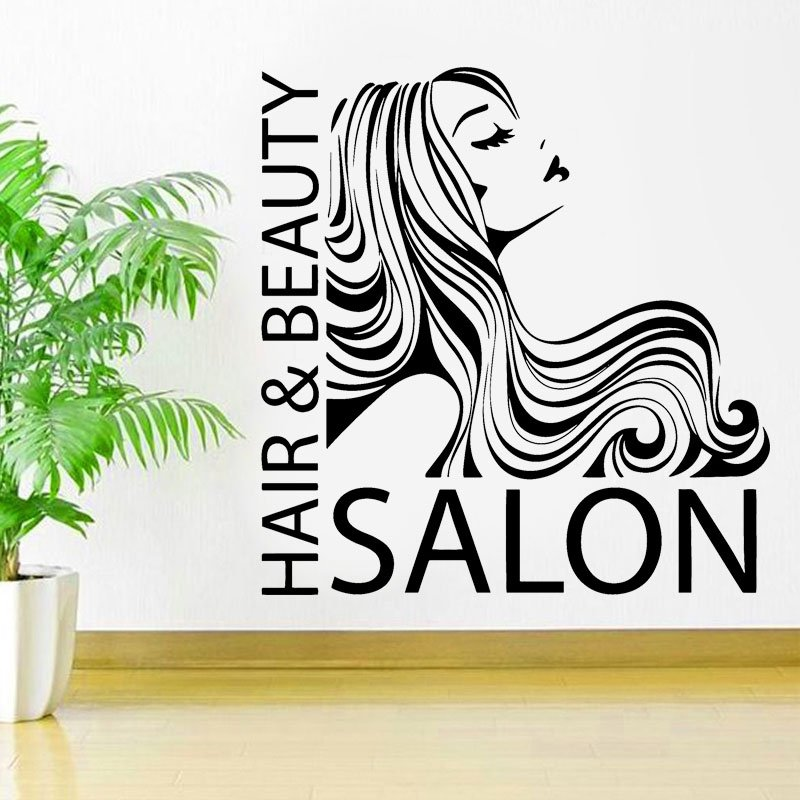 Hair&Beauty Salon Quote Hairstylists Hairdresser Wall Decal Vinyl Barbershop Sticker