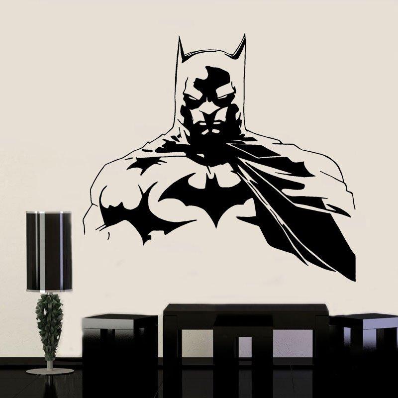 Justice League Batman Super Hero Wall Stickers Vinyl Interior Home Decor