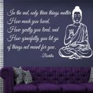 Buddha Statue Meditating Vinilos Art Wall Sticker Text Sofa Background Deity Posters On The Wall