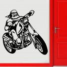 Retro Riding Motorcycle Removable Creative Art Vinyl Stickers Home Decoration