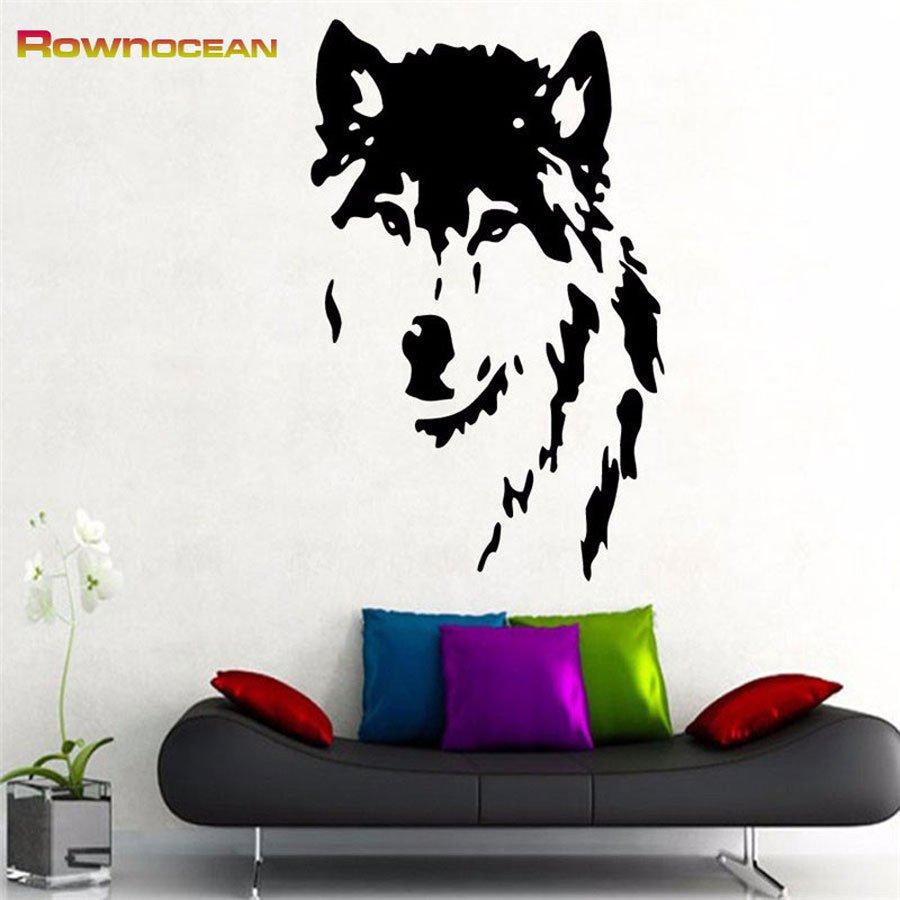 Animals Wolf Home Decoration Wall Stickers Vinyl Removable DIY Muraux Decor