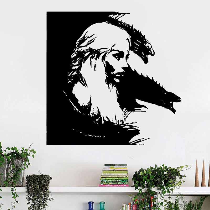 Vinyl Removable Home Decor Game of Thrones TV Poster Daenerys Targaryen Carved Wall Sticker