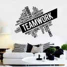 Vinyl Wall Decal Inspirational Teamwork Success Office wall Decor Worker Stickers