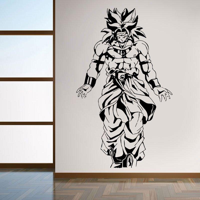 Vinyl Decal Wall Sticker Dragon Ball Z Broly Anime Japanese Cartoon Art