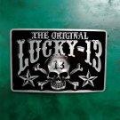 1 Pcs The Original Lucky 13 Skull Luxury Cowboy Belt Buckle For Mens Jeans Western Belt Head