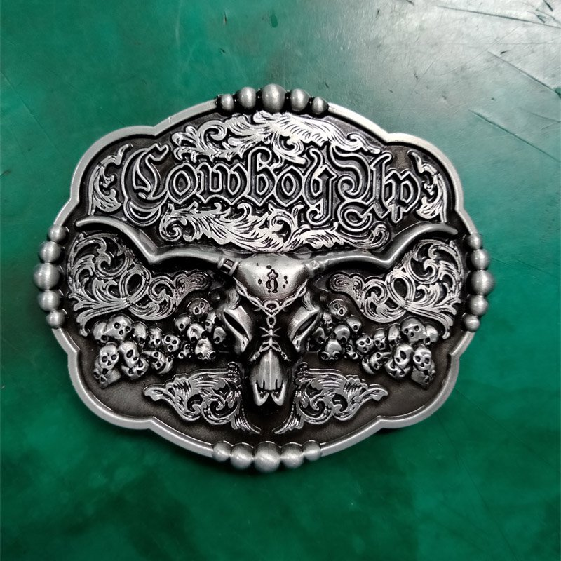1 Pcs Cowboy Up Bull Head Skulls Luxury Cowboy Belt Buckle For Mens Jeans Western Belt Head