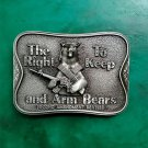 1 Pcs The Right To Keep And Arm Bears Cowboy Belt Buckle For Men Women Western Cowgirl Belt Head